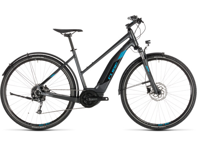 Cube Cross Hybrid ONE 400 Allroad E-crossbike Trapez grå (2019) | City